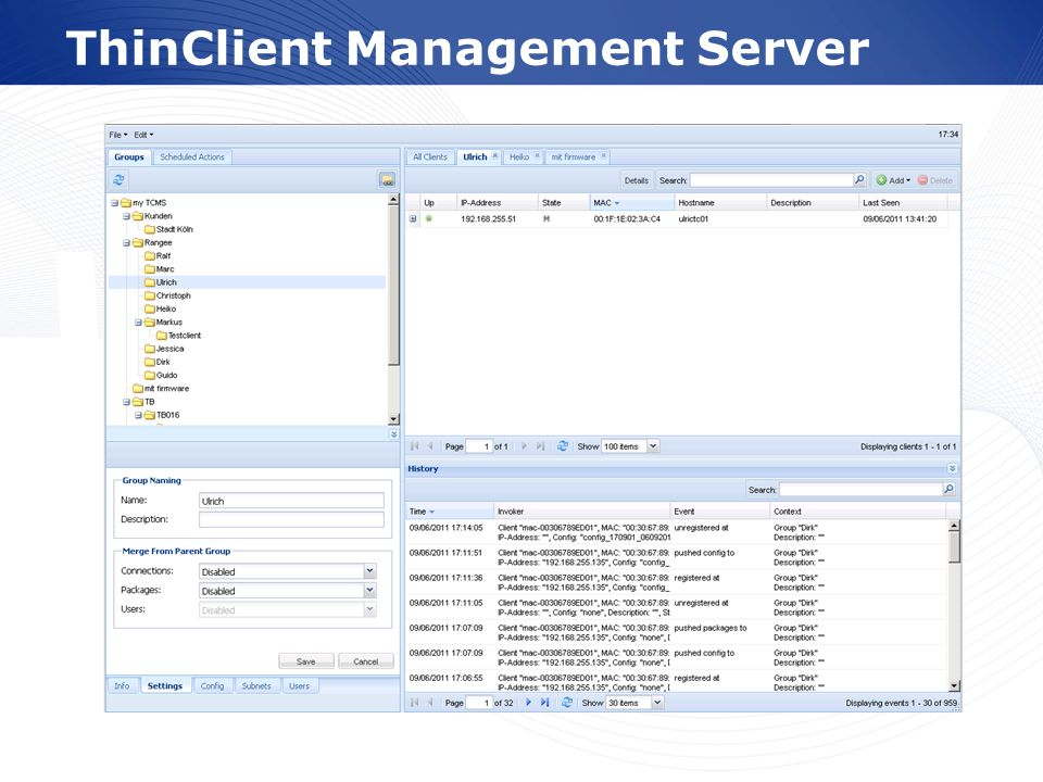 ThinClient Management Server
