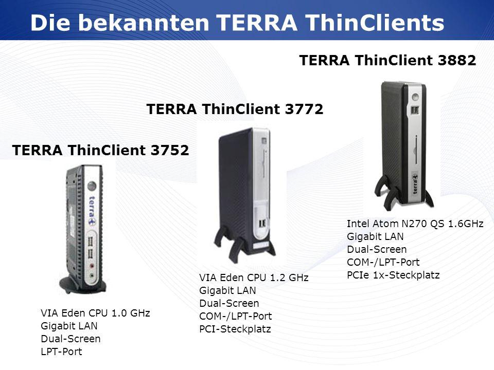 Die bekannten TERRA ThinClients