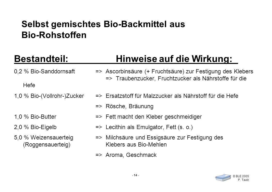 Selbst gemischtes Bio-Backmittel aus Bio-Rohstoffen