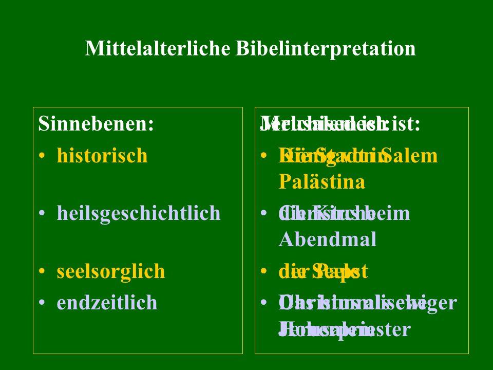 Mittelalterliche Bibelinterpretation