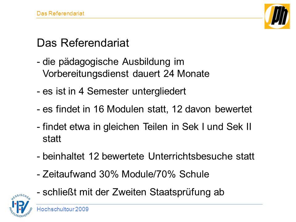 Das Referendariat Das Referendariat. die pädagogische Ausbildung im Vorbereitungsdienst dauert 24 Monate.