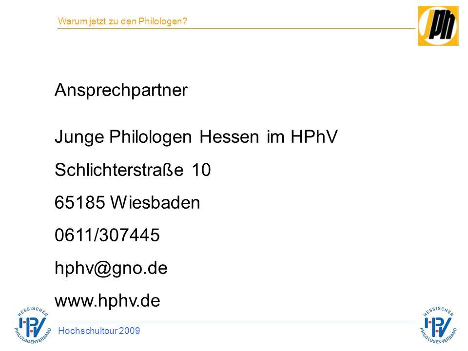 Junge Philologen Hessen im HPhV Schlichterstraße 10 65185 Wiesbaden