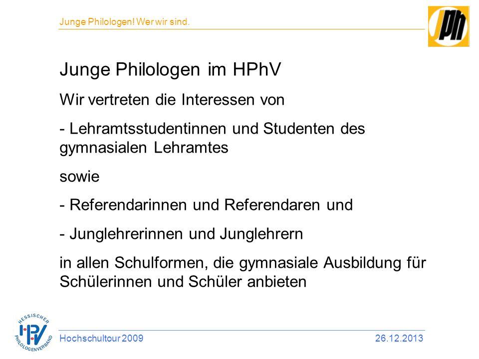 Junge Philologen im HPhV