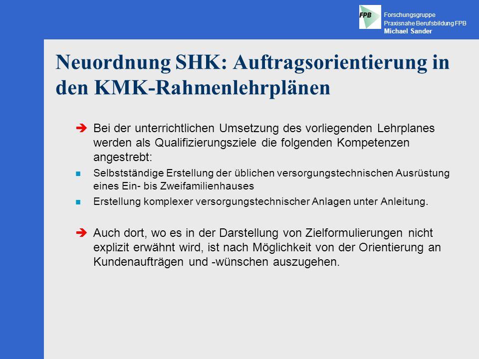 Neuordnung SHK: Auftragsorientierung in den KMK-Rahmenlehrplänen