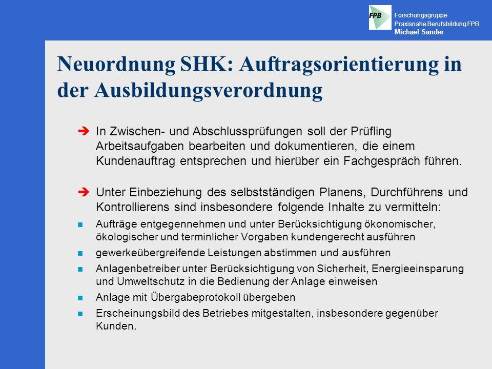 Neuordnung SHK: Auftragsorientierung in der Ausbildungsverordnung