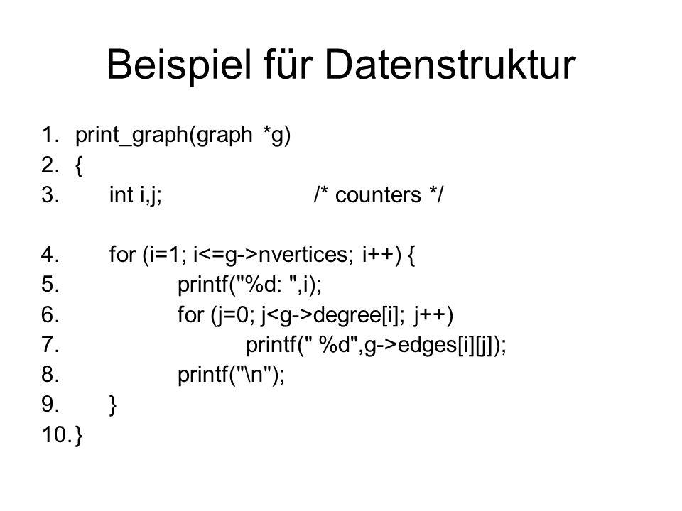 Beispiel für Datenstruktur
