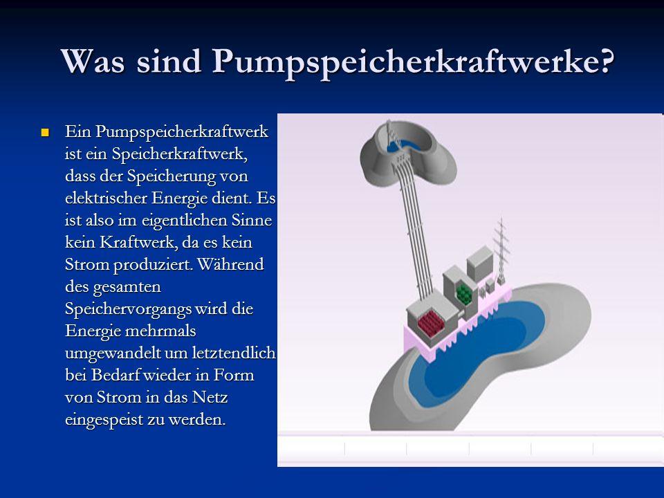 Was sind Pumpspeicherkraftwerke