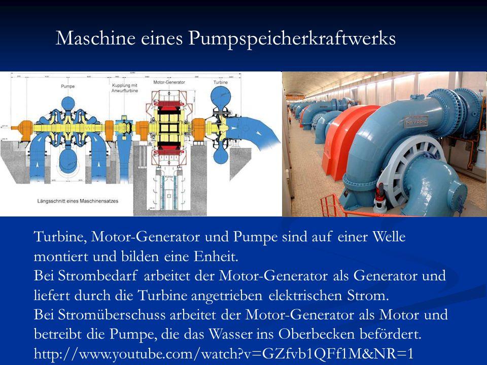 Maschine eines Pumpspeicherkraftwerks