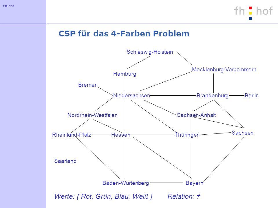 CSP für das 4-Farben Problem