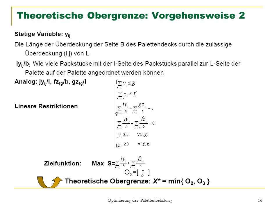 Theoretische Obergrenze: Vorgehensweise 2