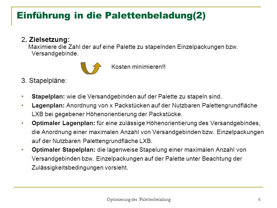 Einführung in die Palettenbeladung(2)