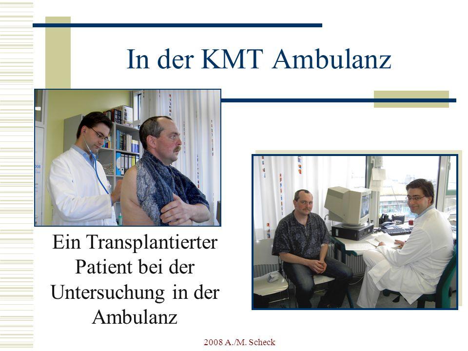 Ein Transplantierter Patient bei der Untersuchung in der Ambulanz