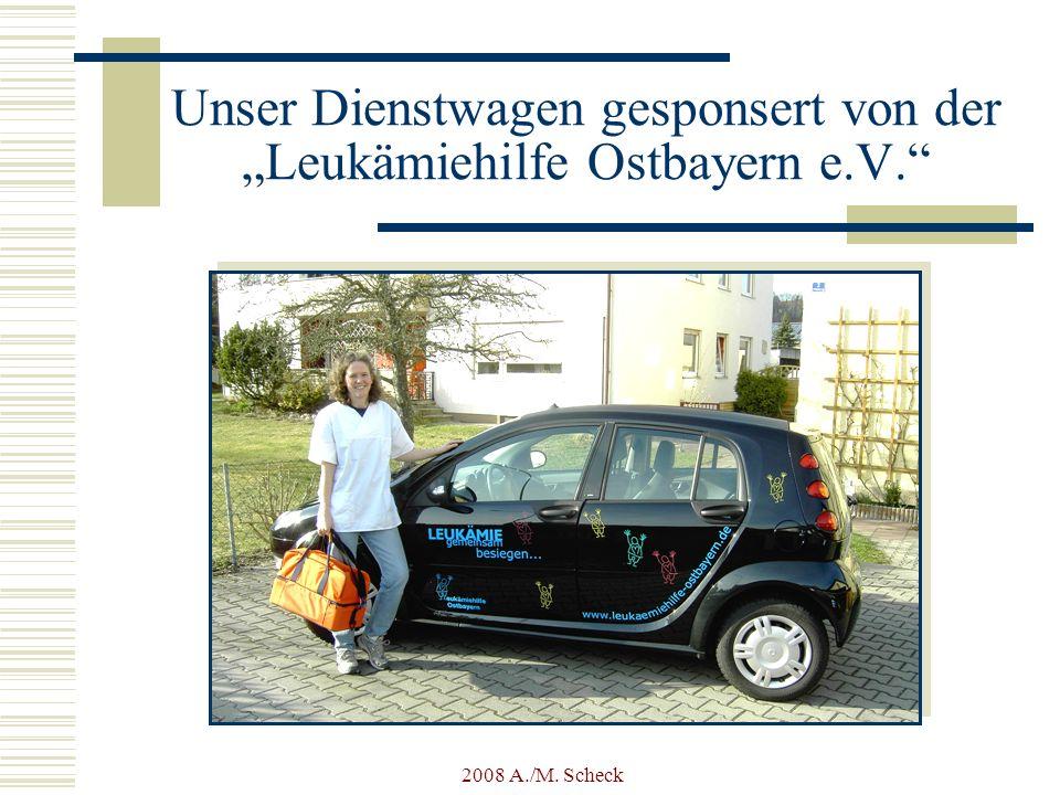 """Unser Dienstwagen gesponsert von der """"Leukämiehilfe Ostbayern e.V."""