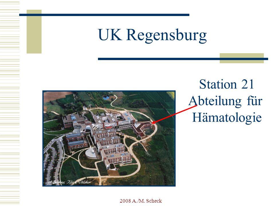 UK Regensburg Station 21 Abteilung für Hämatologie 2008 A./M. Scheck