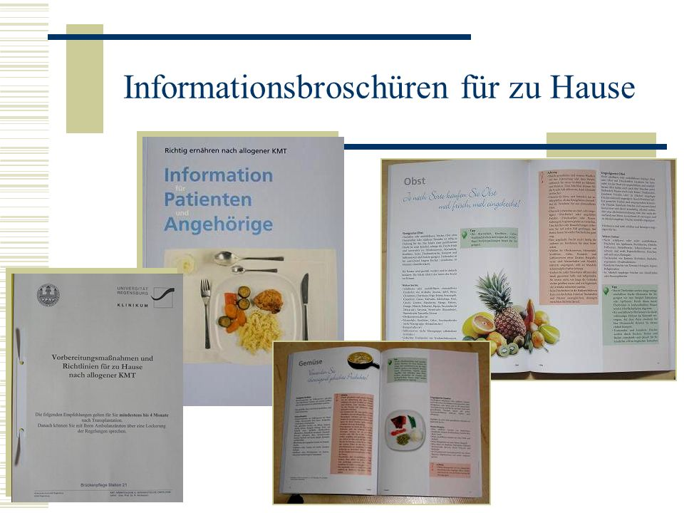 Informationsbroschüren für zu Hause