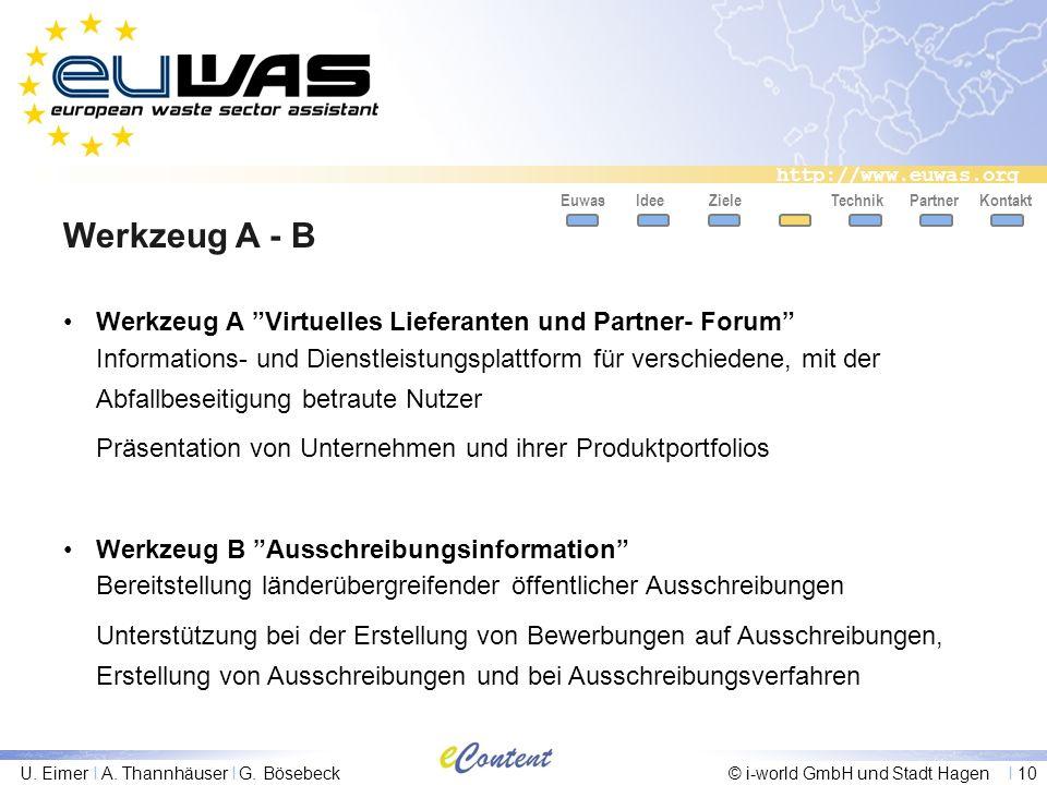 Werkzeug A - B Werkzeug A Virtuelles Lieferanten und Partner- Forum