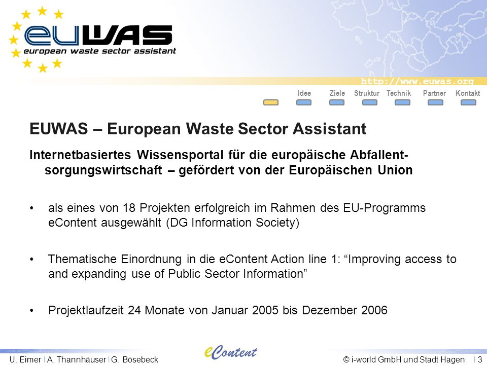 EUWAS – European Waste Sector Assistant