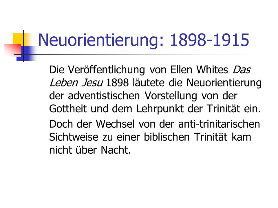 Neuorientierung: 1898-1915