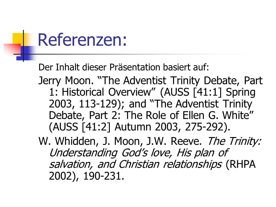 Referenzen: Der Inhalt dieser Präsentation basiert auf: