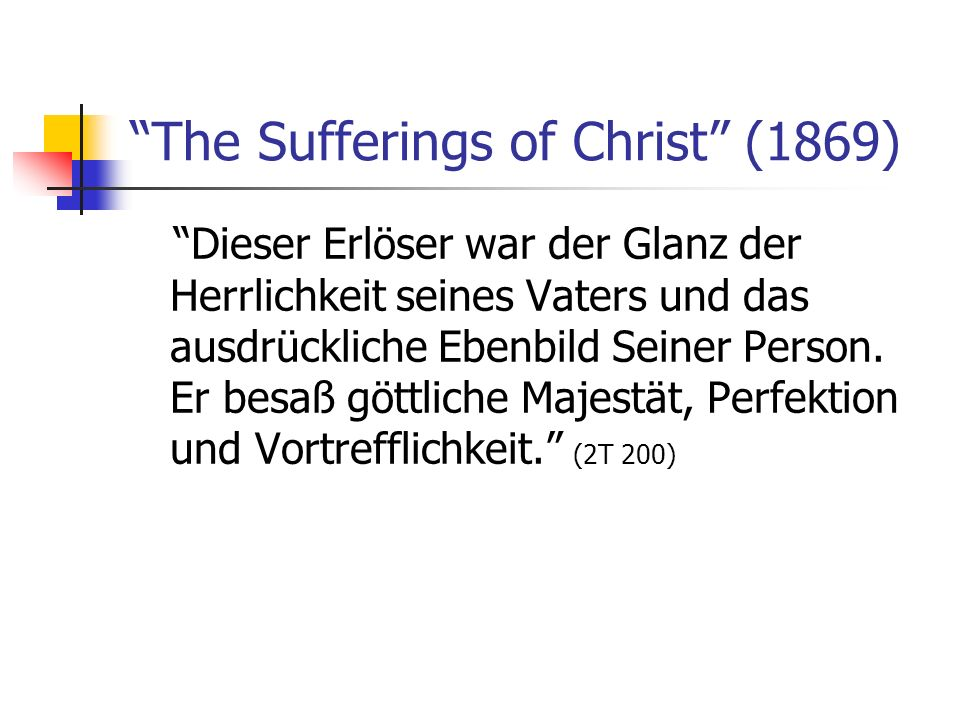 The Sufferings of Christ (1869)