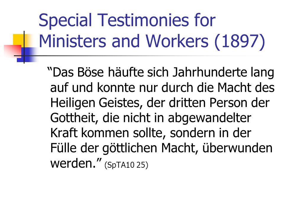 Special Testimonies for Ministers and Workers (1897)