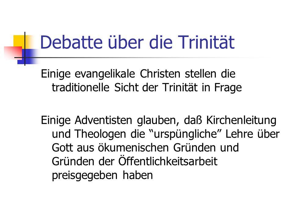 Debatte über die Trinität