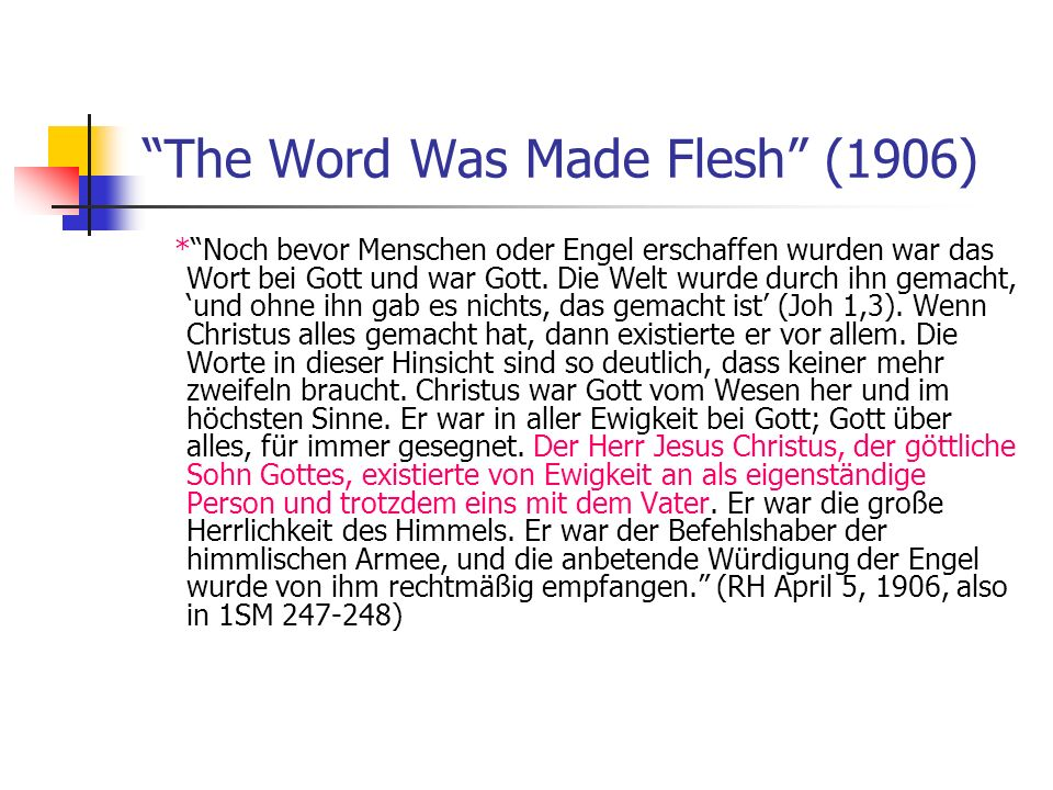 The Word Was Made Flesh (1906)