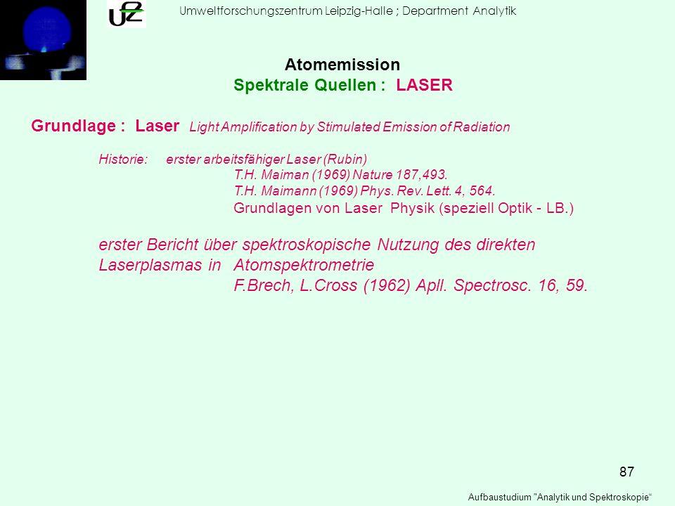 Spektrale Quellen : LASER
