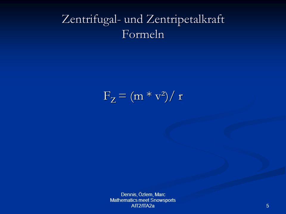 Zentrifugal- und Zentripetalkraft Formeln
