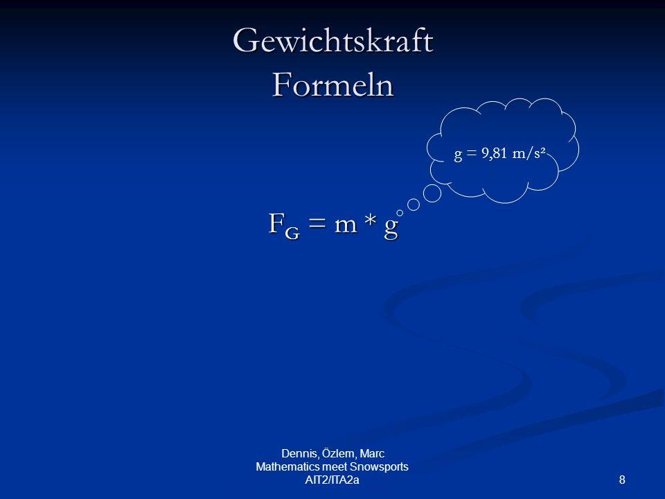Gewichtskraft Formeln