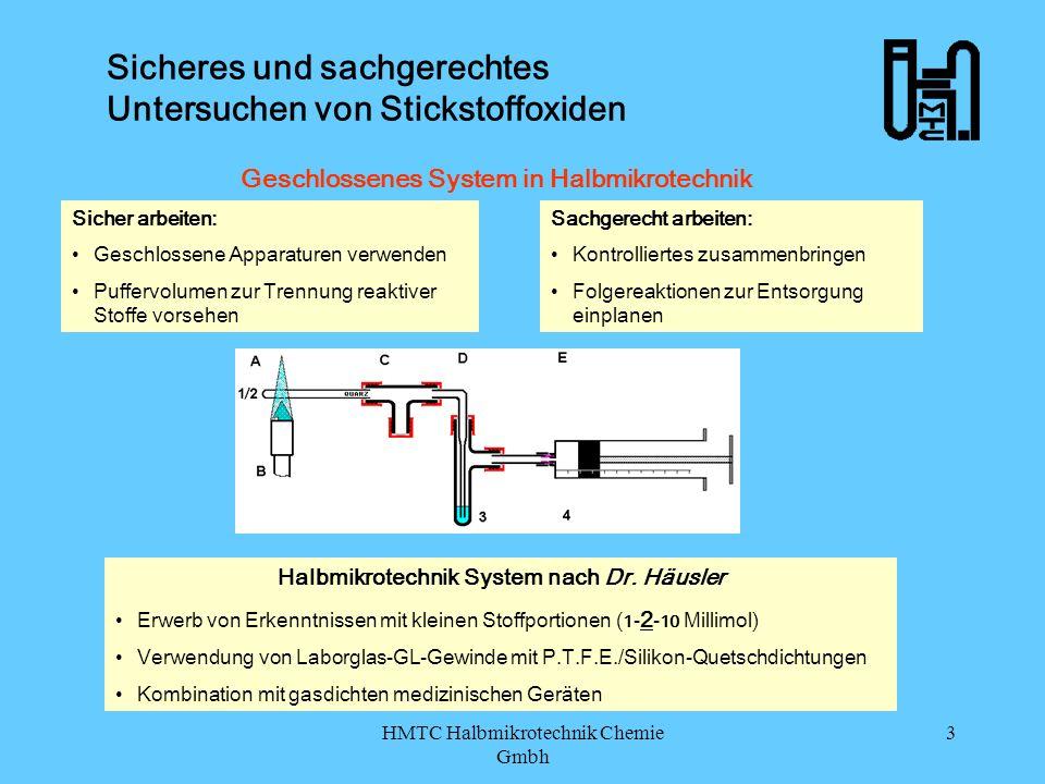 Sicheres und sachgerechtes Untersuchen von Stickstoffoxiden