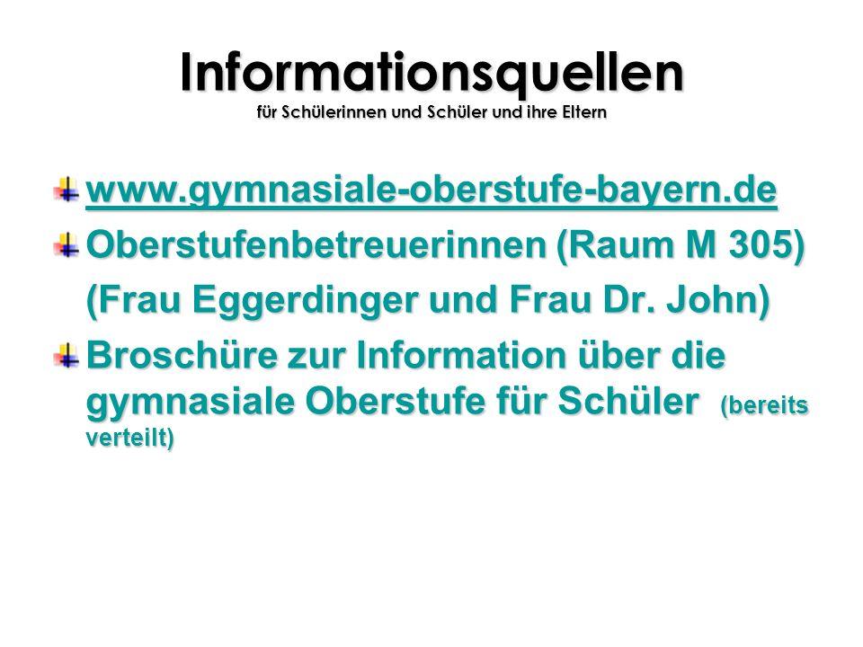 Informationsquellen für Schülerinnen und Schüler und ihre Eltern