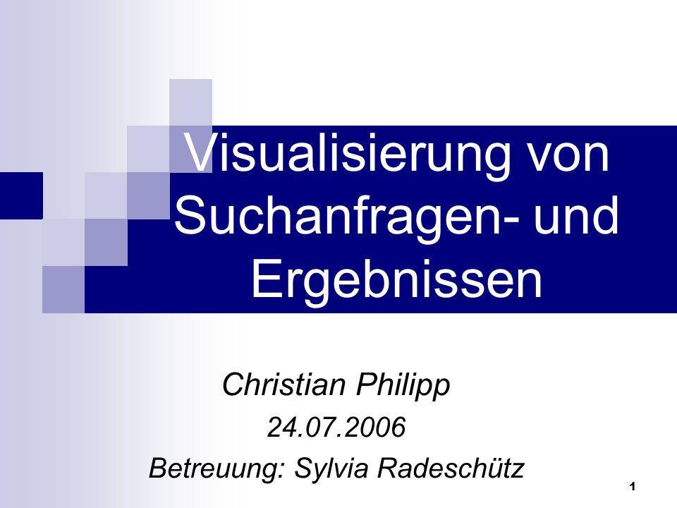 Visualisierung von Suchanfragen- und Ergebnissen