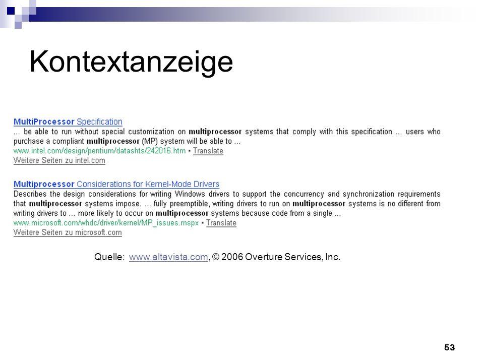 """Kontextanzeigezeigt den Suchbegriff mit seinem Kontext im Trefferdokument an. Satzteile die den Suchbegriff enthalten werden mit """"… getrennt."""