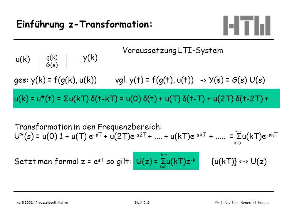 Einführung z-Transformation:
