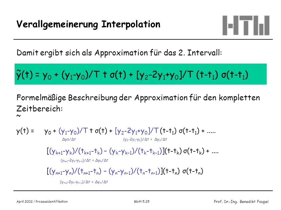 Verallgemeinerung Interpolation