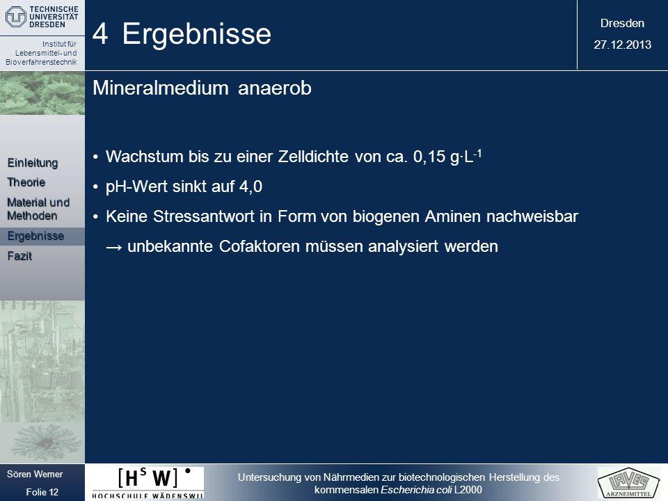 4 Ergebnisse Mineralmedium anaerob
