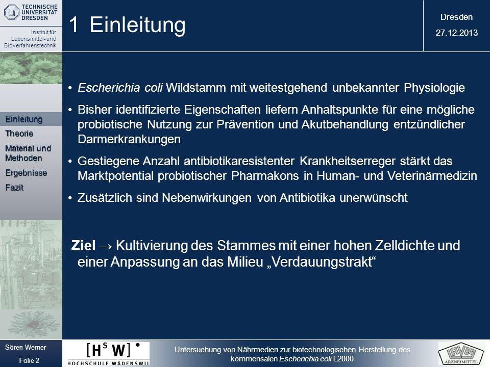 1 Einleitung Escherichia coli Wildstamm mit weitestgehend unbekannter Physiologie.