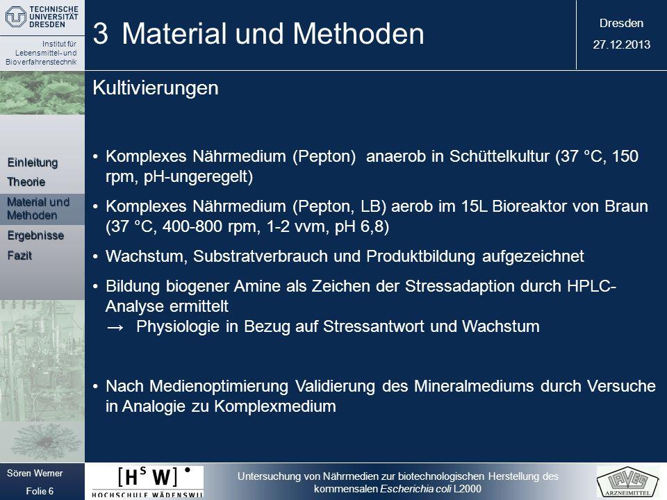 3 Material und Methoden Kultivierungen