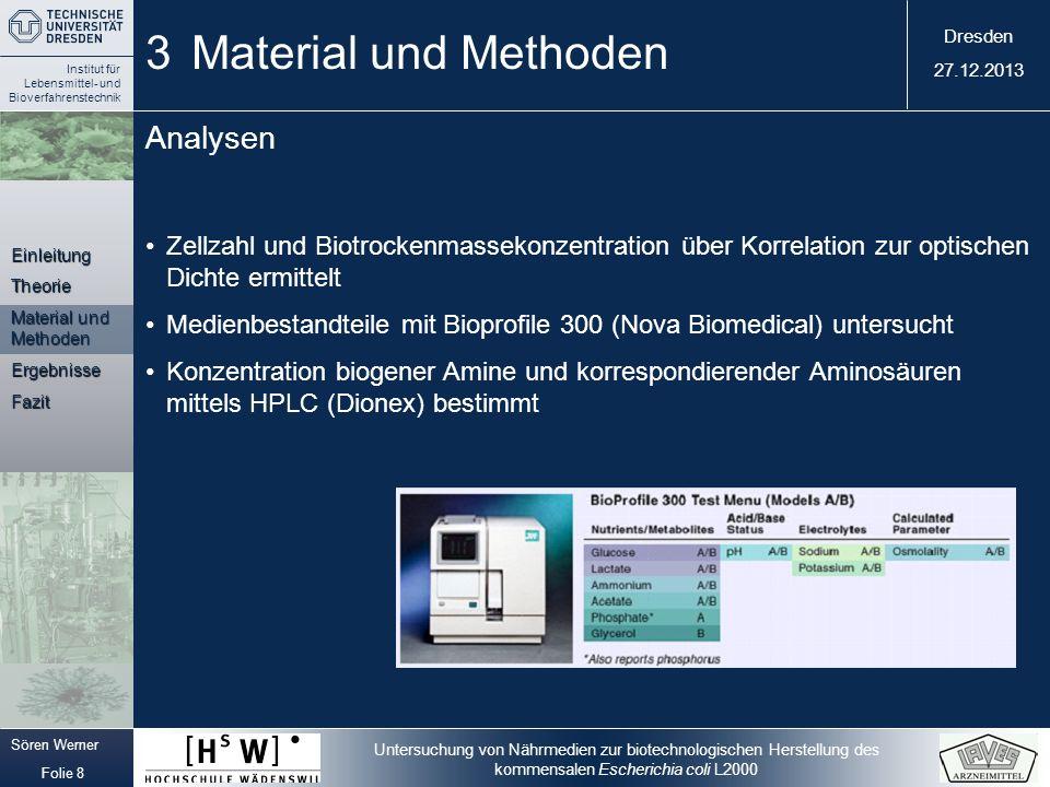 3 Material und Methoden Analysen