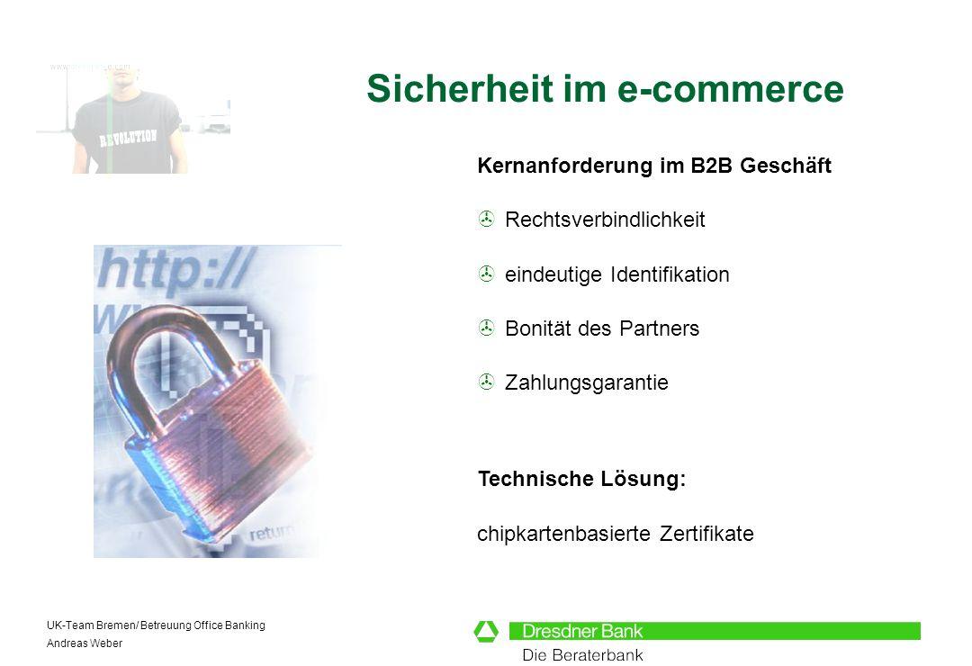 Sicherheit im e-commerce