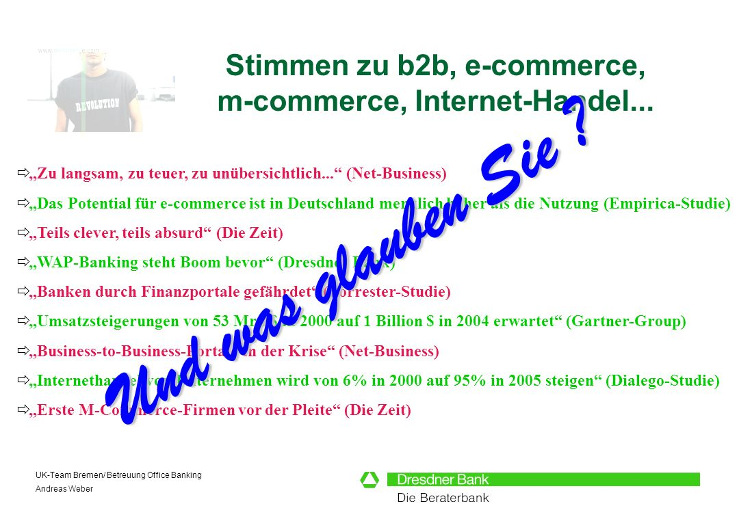 Stimmen zu b2b, e-commerce, m-commerce, Internet-Handel...