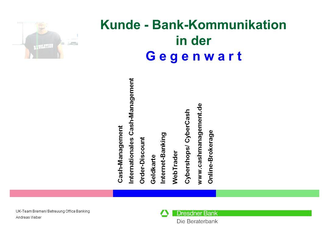 Kunde - Bank-Kommunikation in der G e g e n w a r t