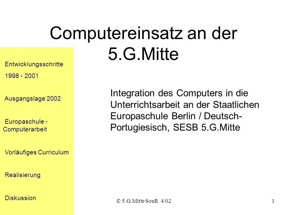 Computereinsatz an der 5.G.Mitte