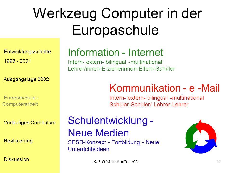 Werkzeug Computer in der Europaschule