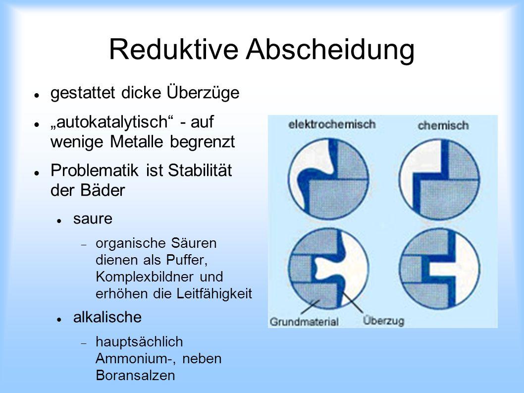 Reduktive Abscheidung
