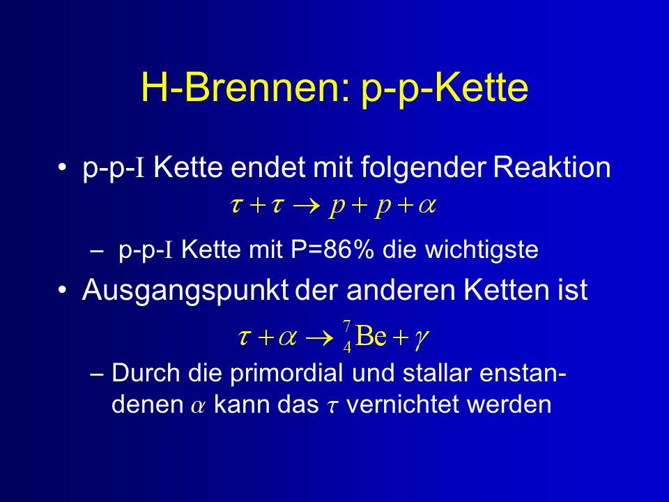 H-Brennen: p-p-Kette p-p-I Kette endet mit folgender Reaktion