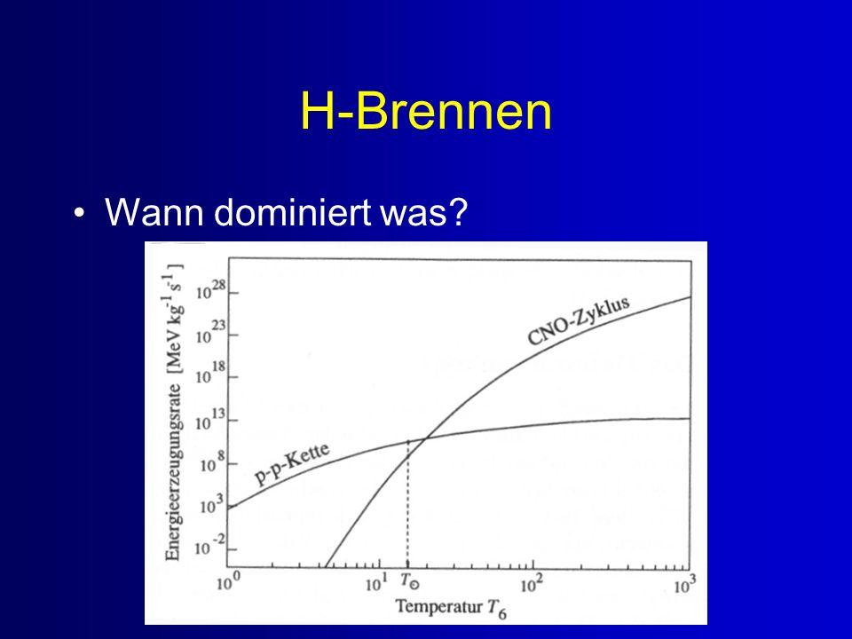 H-Brennen Wann dominiert was