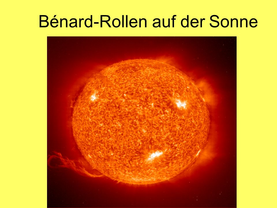 Bénard-Rollen auf der Sonne