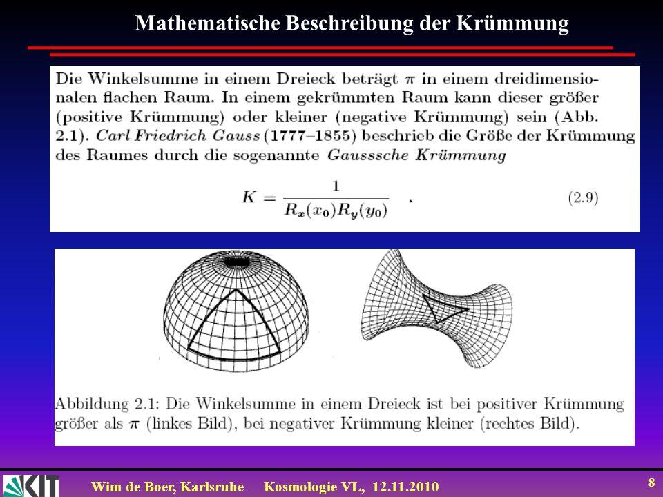 Mathematische Beschreibung der Krümmung